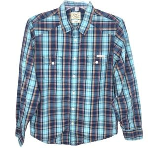 Lucky Brand Men's Western Style Plaid Shirt - S